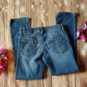 Girls skinny jeans gymboree 6 snap button